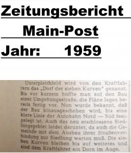 Mainpost 1959 Bau OU Unterpleichfeld