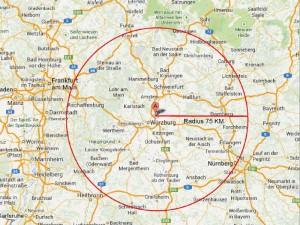 Plan 75KM Radius