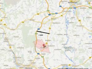 B19 parallel zur A7 Wü bis Schweinfurt parallel kleiner 5KM