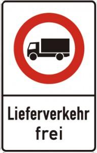 Schild Lieferverkehr frei und LKW Durchfahrtsverbot